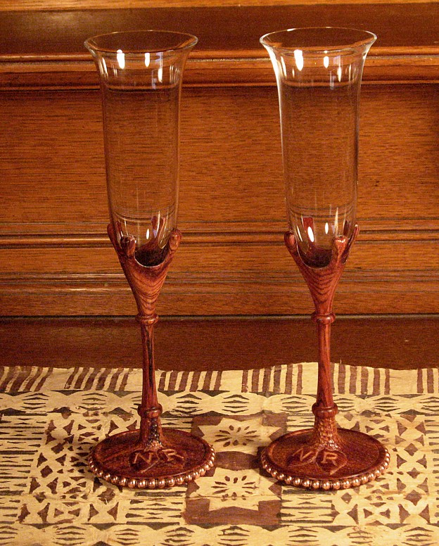 Nikki and Robby's wedding goblets 2