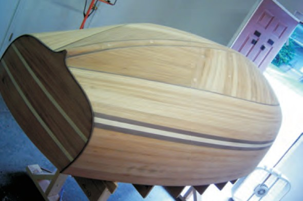 Stripped dinghy hull