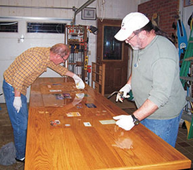 Pouring a 105 207 epoxy bar top epoxyworks magazine for West out of best project