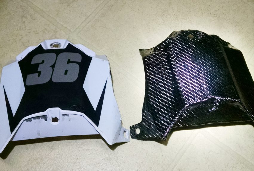 Original airbox and new part