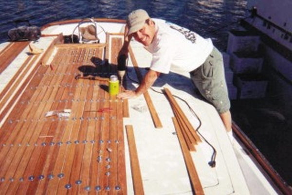 Installing a teak deck on zatara epoxyworks installing a teak deck on zatara solutioingenieria Image collections