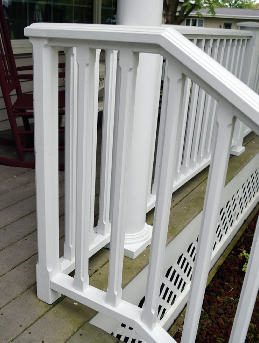Epoxied porch freshly repainted