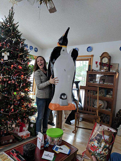 Elated by penguin mailbox