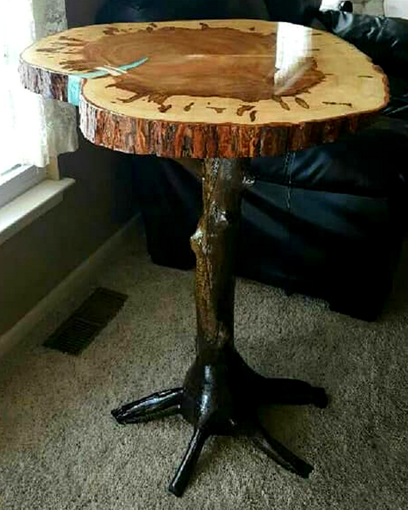 A live edge table by George Zilich of Ohio.